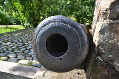 Antik kanon i Lappeenranta royaltyfri foto