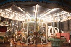 Antik karusell bredvid Palazzo Carignano, Turin, 2013 royaltyfri foto