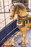 Antik karusellhäst Royaltyfria Bilder