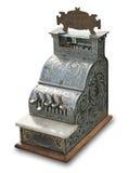 antik kassa isolerat register Royaltyfri Fotografi