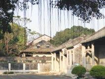 Antik kinesisk borggård Arkivfoto