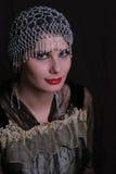 antik klänningkvinna arkivfoto