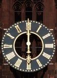 Antik klocka för kyrkligt torn Royaltyfri Foto