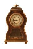antik klocka isolerad white Royaltyfri Bild