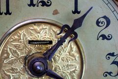 antik klockaframsida Royaltyfri Bild