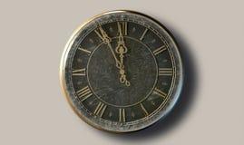 Antik klockamidnatt för makro Arkivfoto