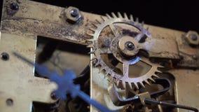 Antik klockarörelse lager videofilmer