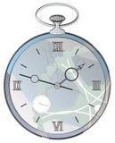 antik klockasprickaframsida Arkivfoto
