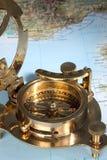 antik kompass Arkivbilder