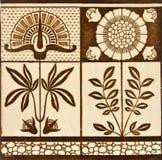 antik konsthantverktegelplatta royaltyfri fotografi