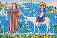 antik konstkristenmosaik Arkivbild