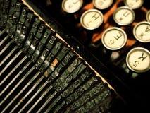 antik kranskrivmaskin Fotografering för Bildbyråer