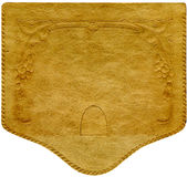 antik lädertextur Arkivbilder