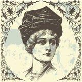 antik lady Arkivbilder