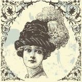 antik lady Fotografering för Bildbyråer