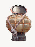 antik lampship Royaltyfri Bild