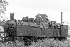 antik lokomotiv Arkivbild