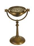 Antik mässingsskeppkompass och ställning II Royaltyfri Bild