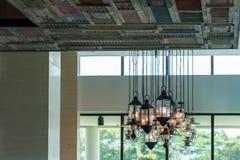 antik mörk tappning för lampa för skrivbordglödgreen Royaltyfri Foto