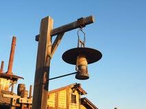 antik mörk tappning för lampa för skrivbordglödgreen Royaltyfri Bild