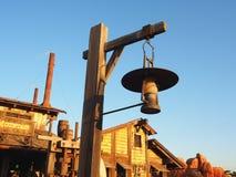 antik mörk tappning för lampa för skrivbordglödgreen Royaltyfria Foton