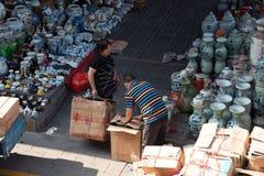 Antik marknad för Panjiayuan loppa arkivbilder