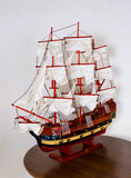antik model seglingship Royaltyfria Bilder
