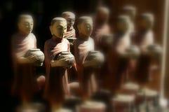 antik monk Royaltyfri Fotografi