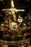 Antik motor i museet Arkivbild