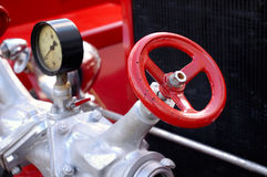 antik motorbrand royaltyfri foto