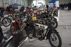 Antik motorcykelfrera Arkivfoto