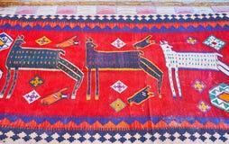 Antik nomad- matta i Shiraz, Iran Fotografering för Bildbyråer