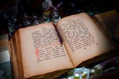 Antik pappers- bok Fotografering för Bildbyråer