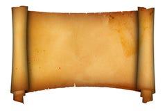 antik parchmentscroll Royaltyfri Fotografi