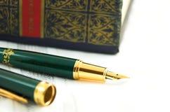 antik penna Fotografering för Bildbyråer