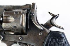 Antik pistol med hammaren tillbaka Royaltyfria Bilder