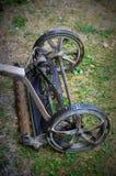 Antik Pushgräsklippare Fotografering för Bildbyråer