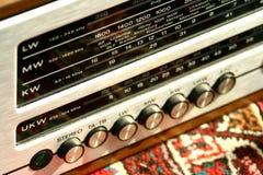 antik radio Arkivbild
