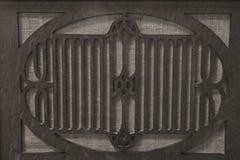 Antik radioskyddsgaller för grammofon Arkivfoto