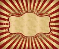 antik ram royaltyfri illustrationer
