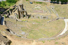 Antik roman amfiteater av Volterra på Tuscany Arkivfoton