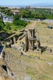 Antik roman amfiteater av Volterra på Tuscany Fotografering för Bildbyråer