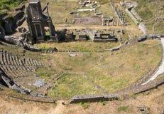 Antik roman amfiteater i Volterra Fotografering för Bildbyråer
