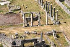 Antik roman amfiteater i Volterra Arkivfoto