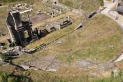 Antik roman amfiteater i Volterra Arkivfoton