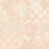 Antik rosa grungy prickig bakgrund med tappningtext Arkivfoton