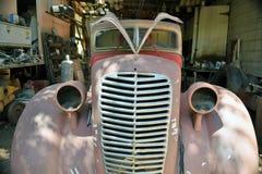 Antik rosa personlighetsbil Fotografering för Bildbyråer