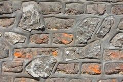 Antik sömlös kalkstenvägg arkivbilder