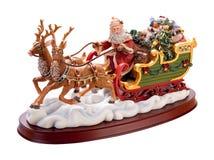 antik santa för clippingbana sleigh Arkivfoton