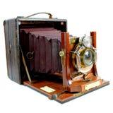 Antik sidosikt för hopfällbar kamera arkivbild